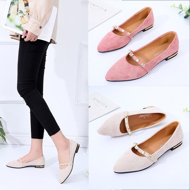 61e89fe0b Brand Ksyoocur 2018 New Ladies Flat Shoes Casual Women Shoes Comfortable  Pointed Toe Flat Shoes Spring/autumn Women Shoes 18-025