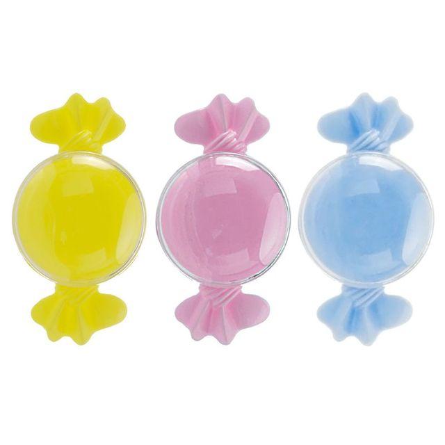 12 unids/set caramelo transparente cajas de dulces de plástico en forma de caja de almacenamiento contenedor de colorido fiesta boda de caja de dulces