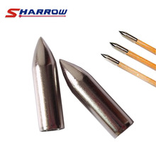 Sharrow 30 Pieces Archery Target Broadhead in Hunting Arrowhead For 8mm Arrow Shaft Shooting Accessory