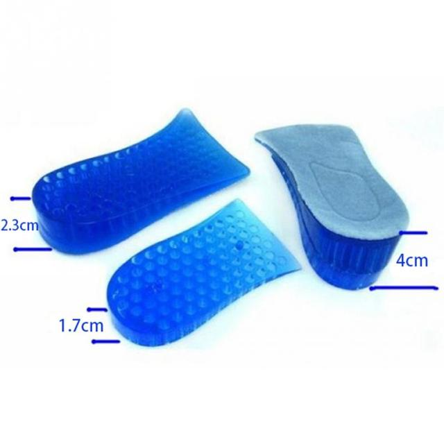 1 Pair Hot New Comfy Unisex Women Men Silicone Gel Lift Height Increase Shoe Insoles Heel Insert Pad
