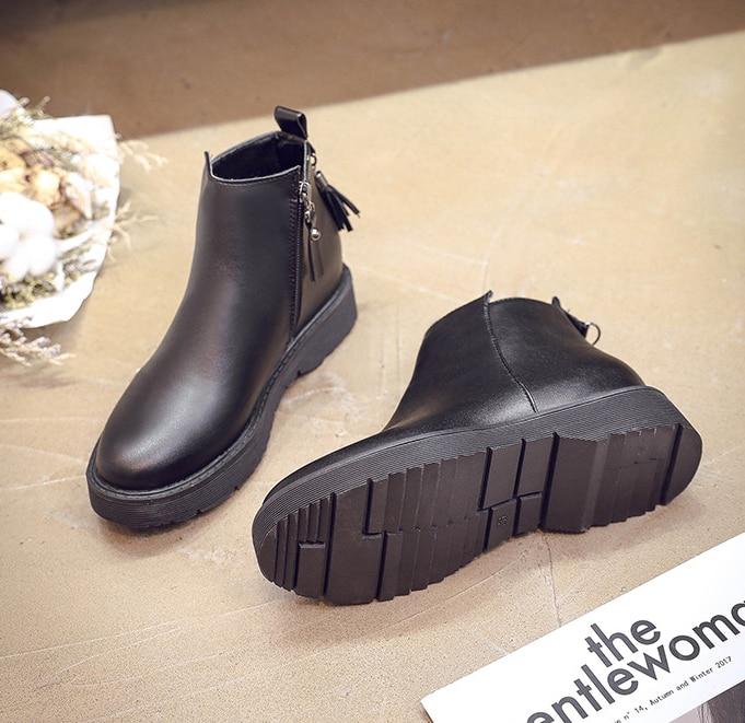 HUANQIU 2018 sonbahar/kış yeni botlar kadınlar düz ayakkabı artı kadife çizmeler fermuar moda çizmeler kadın ZLL613