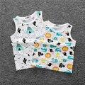 Новые прибыл Детские топы дети жилет мальчиков летом Бак 2017 девушки модные девушки фрукты печатных футболку мальчиков одежда футболка ZX206