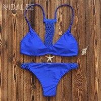 New Summer Style Women Swimwear 2017 Bikini Set Sexy Bandage Printed Bathing Suits Push Up Brazilian