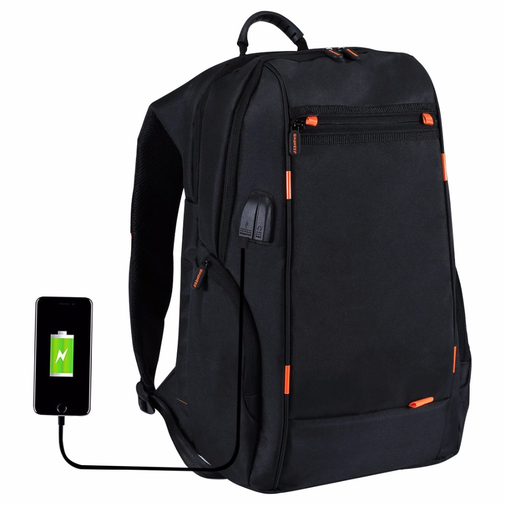HAWEEL Outdoor Multi-function Comfortable Breathable Backpack Laptop Tablet bag with External USB Charging /Earphone Po