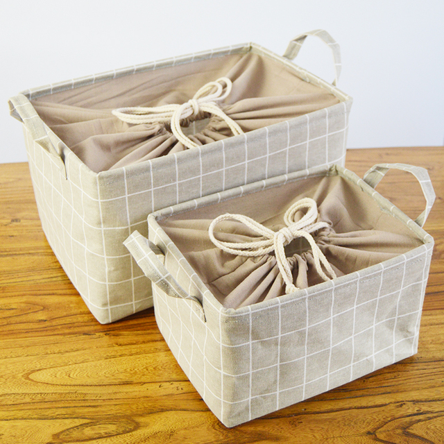 Attrayant US $12.22 35% OFF|Japanese Style Extra Large Laundry Basket With Cover  Faric Storage Box For Toy Sundries Storage Basket Bathroom Laundry  Bucket In ...
