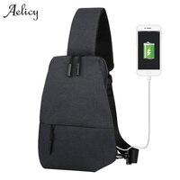 Aelicy 3 ألوان 2017 جديد أزياء الرجال قماش حقائب الكتف الصدر عالية الجودة عارضة حقيبة الكتف للجنسين الصدر 1010