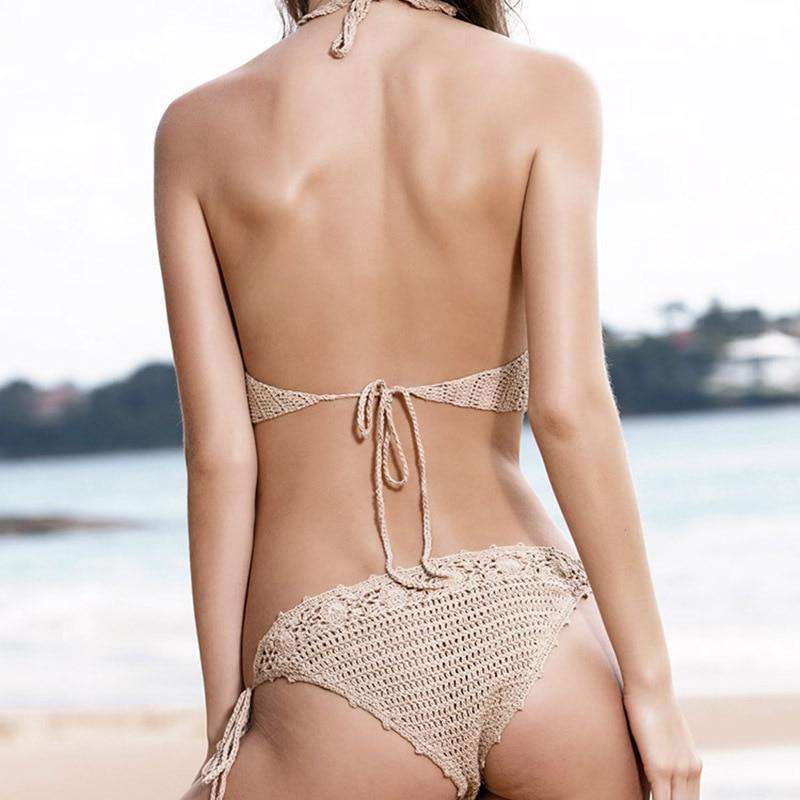 HTB1orbaNwHqK1RjSZJnq6zNLpXa2 2019 New Triangle Bikini Top Woman Hollow Out Swimsuit Crochet Black Bikini Top Sexy Swimming Bra Large Female Swimwear S M L XL