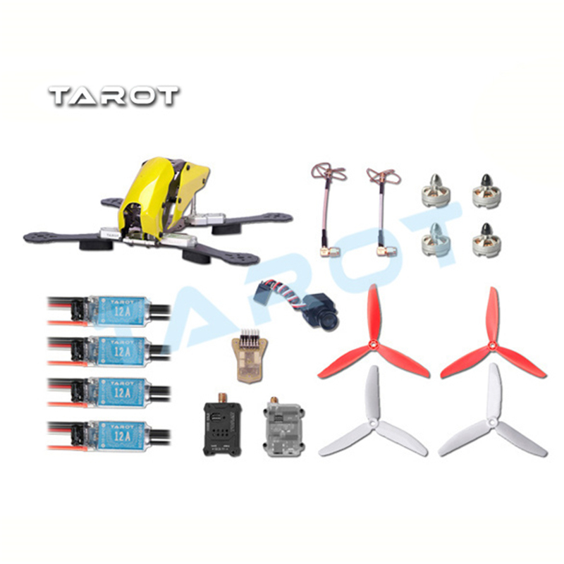 Tarot Robocat 250 FPV Carbon Fiber Quadcopter Kit TL250C Frame 1806 Motor 12A ESC 6inch 3blade Prop MINI CC3D PAL/NTSC Camera drone with camera rc plane qav 250 carbon frame f3 flight controller emax rs2205 2300kv motor fiber mini quadcopter