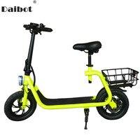 Daibot Электрический скутер для взрослых двух колесных электрических скутеров с детского сиденья 12 дюймов 350 W 36 V Портативный электрический ве