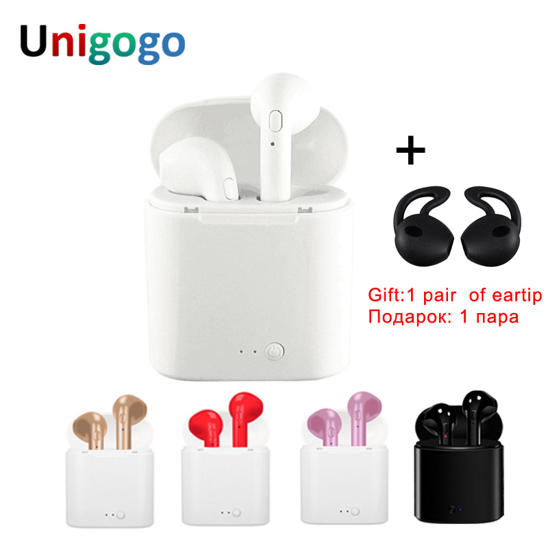 Wireless in ear Earphones Bluetooth Headset i7 I7s TWS Stereo Music Earbuds With Mic For iPhone 6 7 8 Samsung S8 Xiaomi Huawei m165 bluetooth 4 1 headset with dual mic for iphone android