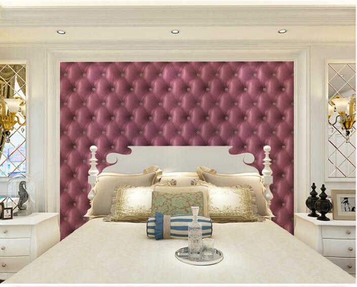 High Quality Vintage simple gride pupple sofa and Eco-friend wallpapers decorative papel de parede pure paper roll 53x1000cm