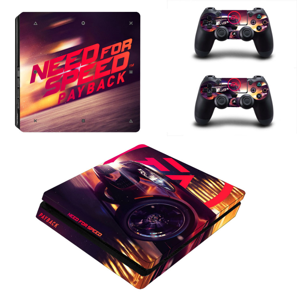Game Need for Speed PS4 Slim Skin Sticker Decal for Sony PlayStation 4 Console and Controller PS4 Slim Skins Stickers Vinyl image