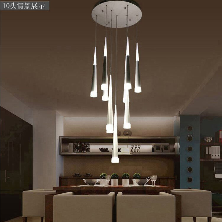 Modern Ceiling Lights Fashion Luxury Home Dining Living Room Stairs  Decoration LED Ceiling Lamp Cone Tube Spiral Hanging Light In Ceiling Lights  From Lights ... Part 47
