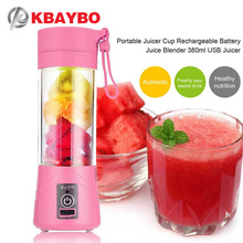 Купить с кэшбэком USB Juicer Cup, Fruit Mixing Machine, Portable Personal Size Eletric Rechargeable Mixer, Blender, Water Bottle 380ml with USB