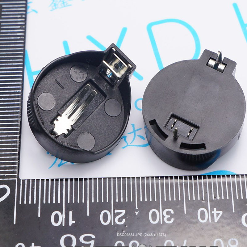 CR2025 CR2032 battery holder Button battery connector Computer motherboard battery holder free shipping for cr2032 laptop motherboard battery universal cmos battery 3v bios battery with a line