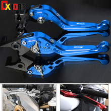 CNC Aluminum Motorcycle Foldable Extendable Adjustable Clutch Brake Levers With LOGO For BMW S1000R (w and w/o CC) 2015-2016
