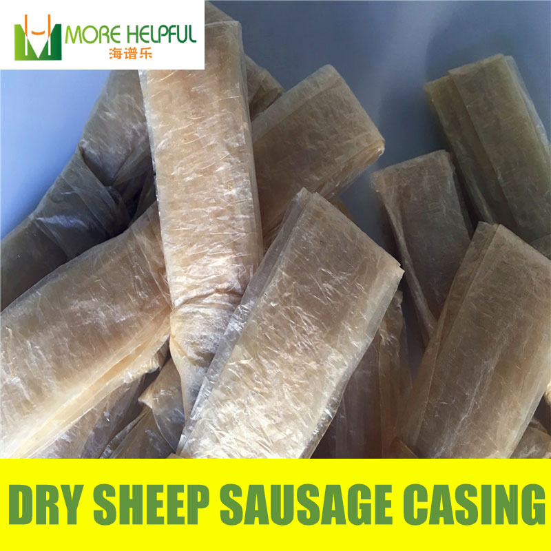26 meter total Dry sheep casing 10pc bag Diameter 18mm 20mm natural sheep Sausage cover Sausage skin free shipping in Basters from Home Garden