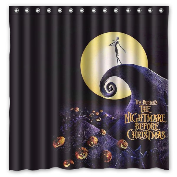the nightmare before christmas shower curtain waterproof fabric bath curtains polyester bathroom shelter 180180cm in shower curtains from home garden on