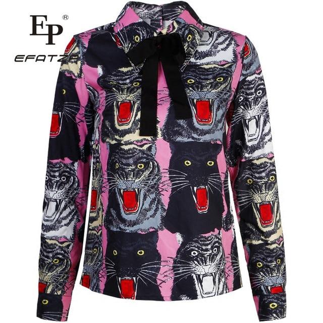 Blouse Overhemd.Nieuwste Fashion 2018 Runway Designer Blouse Overhemd Hoge Kwaliteit