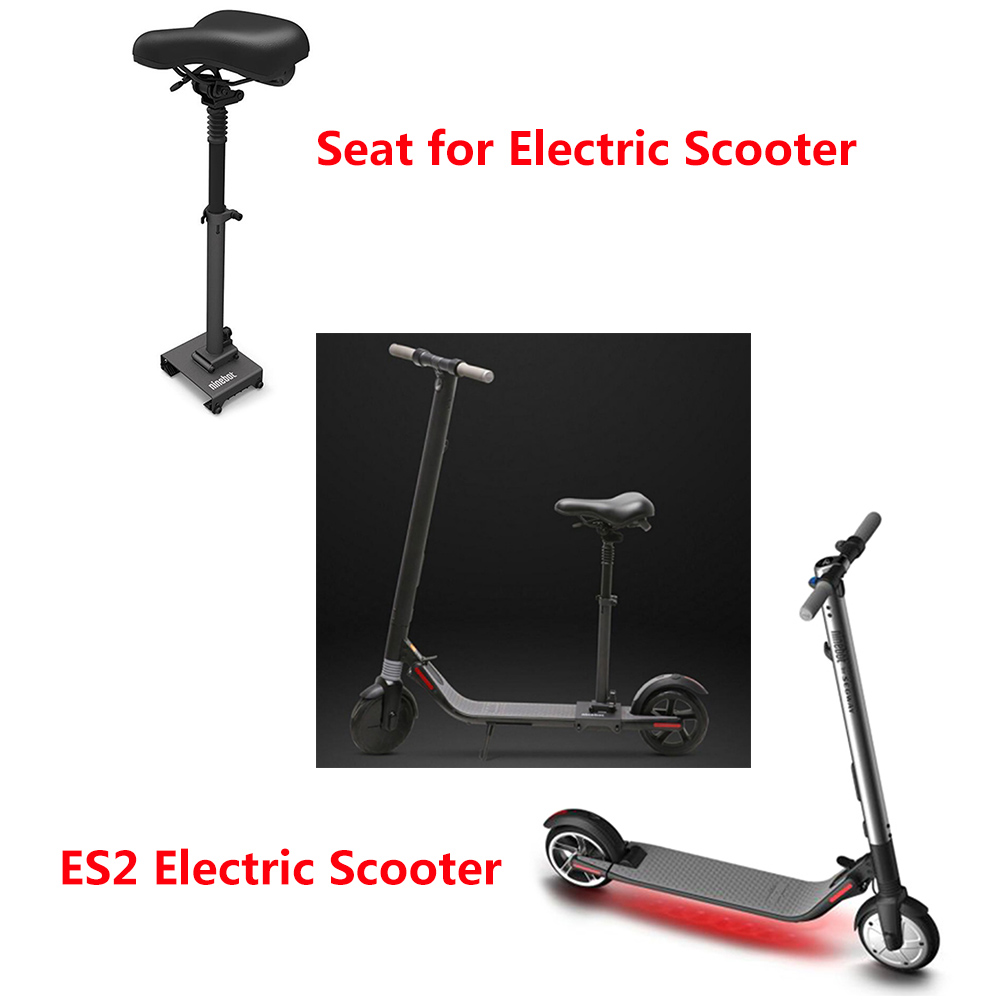 Ninebot ES2 Folding Electric Scooter 5.2Ah Battery Electric Kick Scooters +Detachable Adjustable Cushion Seat Two Wheels Scooter 2 wheels kick scooter 350w lithium battery electric scooter with seat max load 150kg for adults free shipping