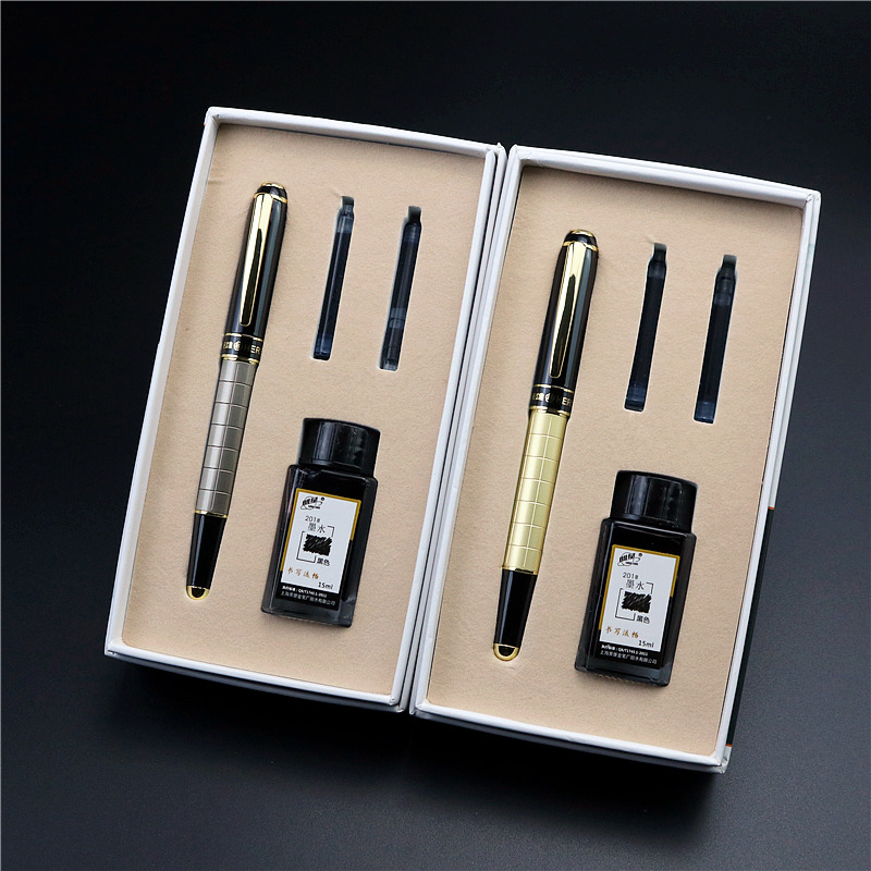 Fountain pen Ink set Premium gift pen with bottled ink and ink cartridge 2 colors to choose from
