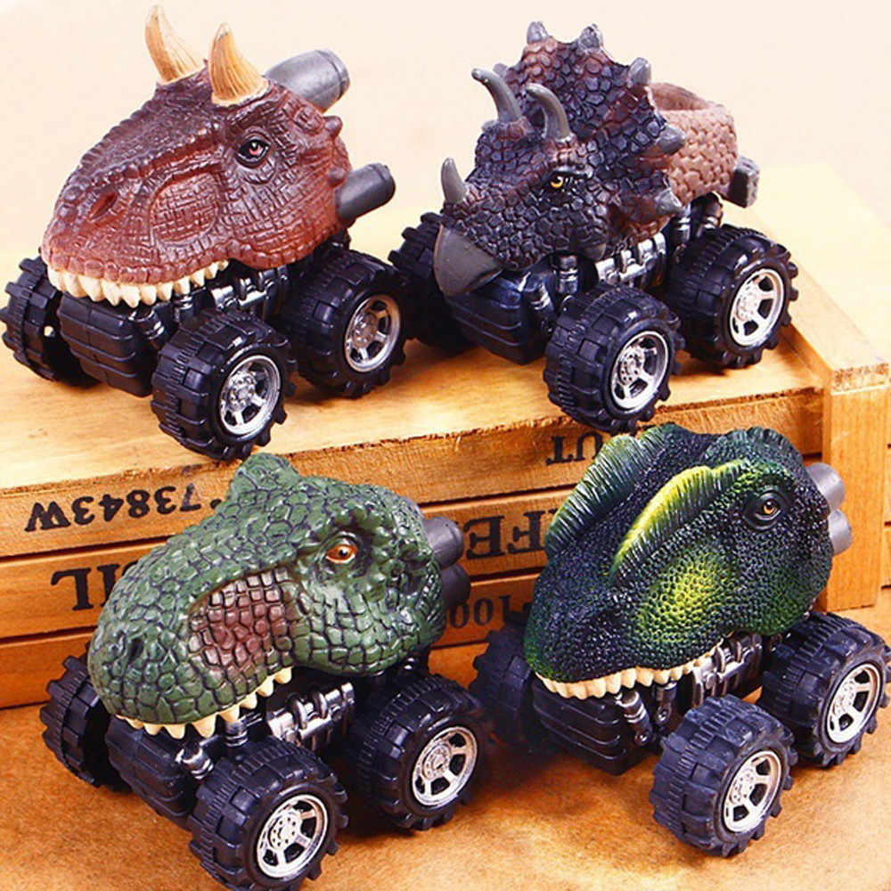 Mini Toy Car animal toy cars dinotrux Toy Dinosaur Model Mini Toy Back Of The Car Gift for kids