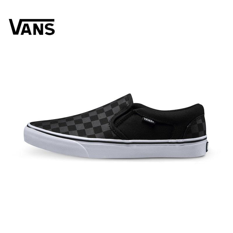 Original Vans Sneakers Men's Women's Active AsherSkateboarding Shoes Sneakers Comfortable Canvas Low-top Shoes VN000SEQ542
