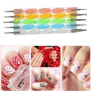 Image 4 - LKE 20 pcs/set Nail Art Design Set Dotting Pen Drawing Nail Varnish Gel Polish Brush for Manicure Nail Art Tools Nails Art Brush