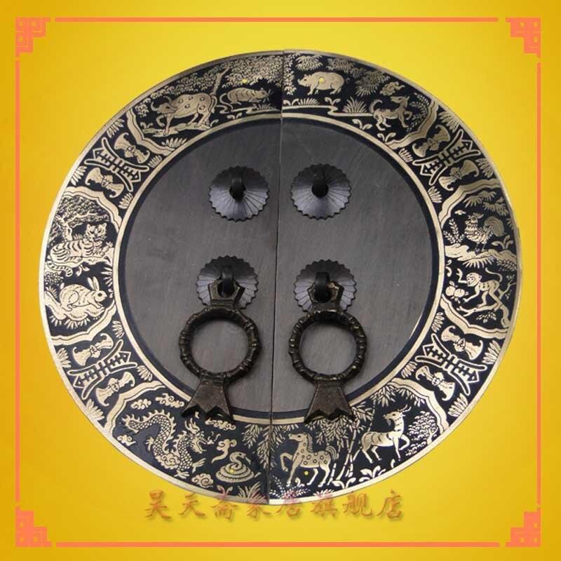 [Haotian végétarien] Ming et Qing meubles meubles anciens portes antiques et raccords en laiton HTB-111