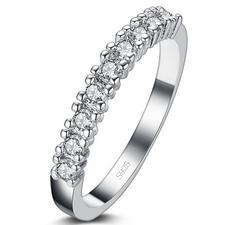 2016 Christmas girlfriend gift fashion CZ zircon 30% silver plated ladies`finger