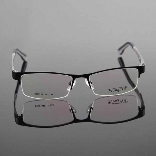 b2be5a2031bf Half Rimless Glasses Frame Women Men Eyewear Frame Stainless Steel  Eyeglasses Optical Spectacles Eyeglass TR90 Temple