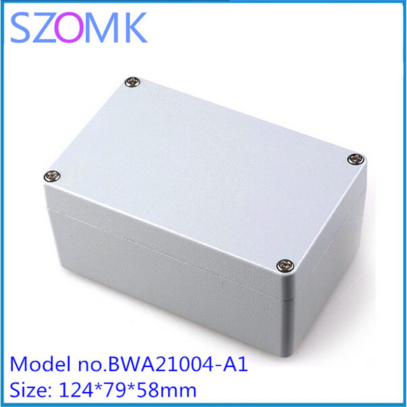 1 pcs, szomk waterproof enclosure for electronics control box 124*79*58mm outdoor waterproof electrical enclosure 4pcs a lot diy plastic enclosure for electronic handheld led junction box abs housing control box waterproof case 238 134 50mm
