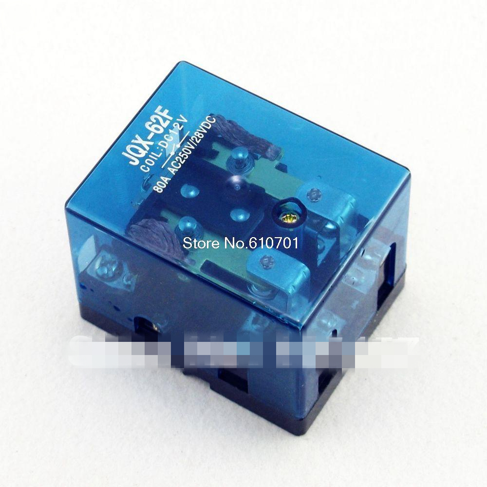 JQX-62F-2Z 80A DPDT 12VDC 24VDC 110VAC 220VAC Coil Electromagnetic Power Relay General Purpose hh54p din rail 12vdc 24vdc 24vac 110vac 220vac coil 4pdt 14p general purpose power relay w dyf14a base