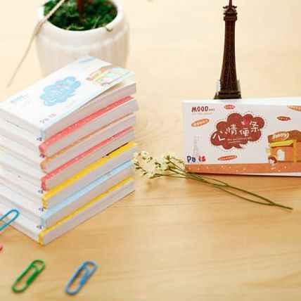 Memo pad симпатичный блокнот для заметок можно отрывать записки этот небольшой свежий день корейские канцтовары оптом 50 страниц