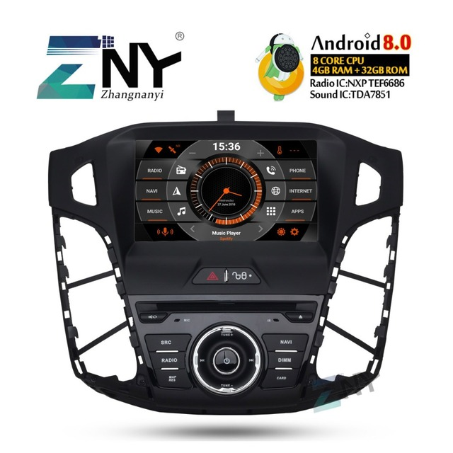 """8"""" IPS Android 8.0 Car DVD For 2011 2012 2013 2014 Focus Auto Audio Video Radio FM Stereo WiFi GPS Navigation Free Backup Camera"""