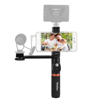 ViewFlex VF-H4 Smartphone Video Rig Hand Grip Handle Stabilizer Kit with Remote Control/ Hot Shoe Mount for iPhone X 8 7 6s Plus