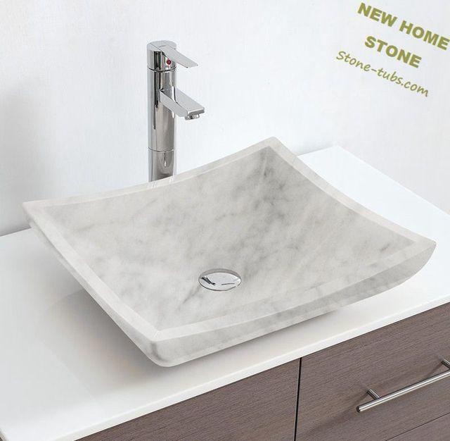 Waschbecken Grau rechteckigen weißen marmor waschbecken mit grau muster einfache