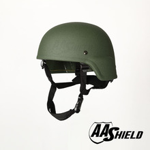 AA Shield Ballistic ACH MICH Tactical Kevlar Helmet Color OD Green Bulletproof Aramid Safety NIJ Level IIIA  Military Army