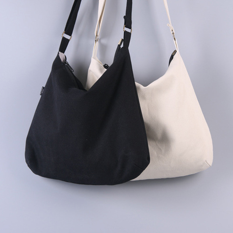 NAVO white black canvas messenger bags for women cotton crossbody bags over the shoulder bags book bags phone sac coton
