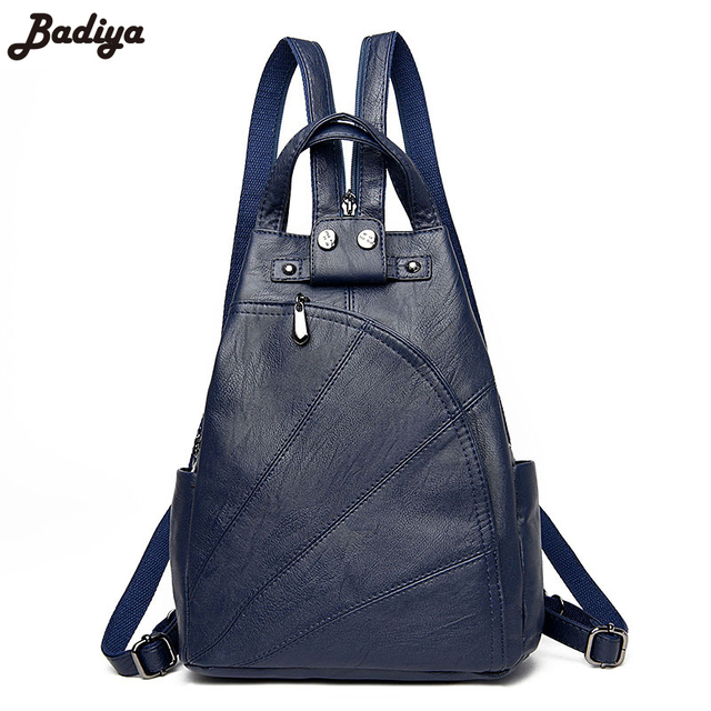 4486116c803c5 Fashion Multifunction PU Leather Chest Pack Small Shoulder Bag Lady Dual  Function Designer Women Messenger Bag Casual Daypack