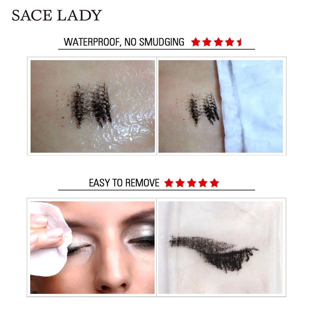 SACE LADY Eyelash Mascara Makeup Curling Thick Eyelash Waterproof 4D Silk Fiber Rimel Extension Volume Eye Lashes Cosmetic 1
