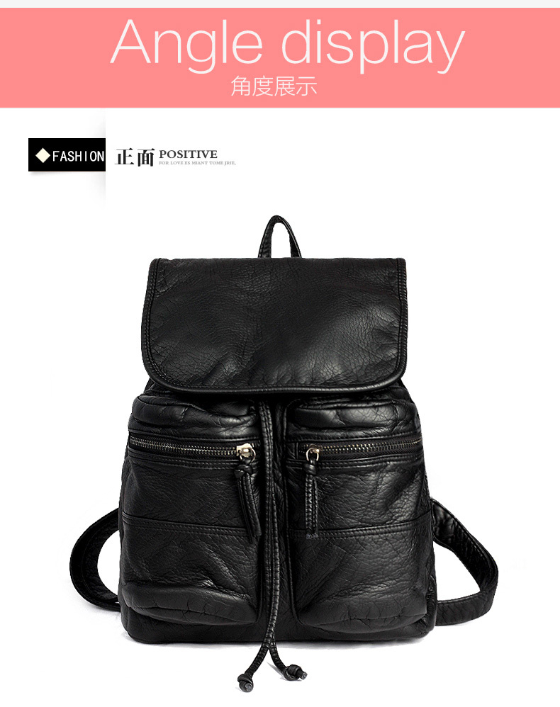 ФОТО 2017 new style fashion vintage backpack pu leather shoulder bag men and women backpack schoolbag College Wind
