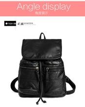 2017 новый стиль моды старинные рюкзак pu кожа сумка мужчин и женщин рюкзак школьный Колледж Ветер
