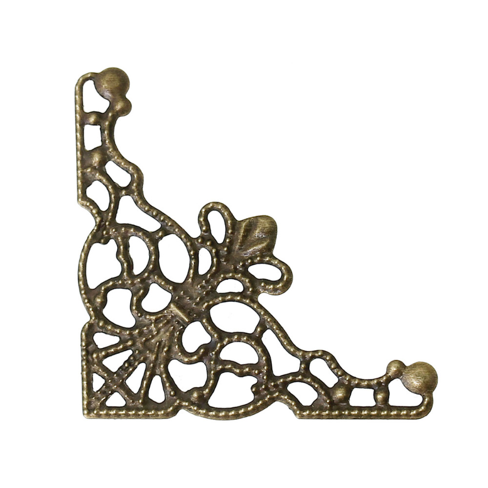 Дорин коробка Прекрасный 50 бронзовый тон ажурный треугольник Обертывания Разъемы (B13807)