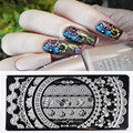 1 Pc Born Pretty Gorgeous Lace Flower Design Nail Art Stamp Template 12*6cm Rectangle Nail Stamping Plate L009