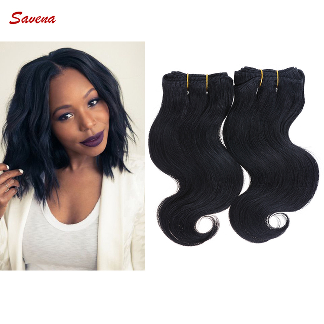 Brazilian Virgin Hair Bundles 2Bundles/lot 50g/Bundle Short Size 8Inch Bodywave Human Hair Extensions 100%Ombre Human Hair Weave