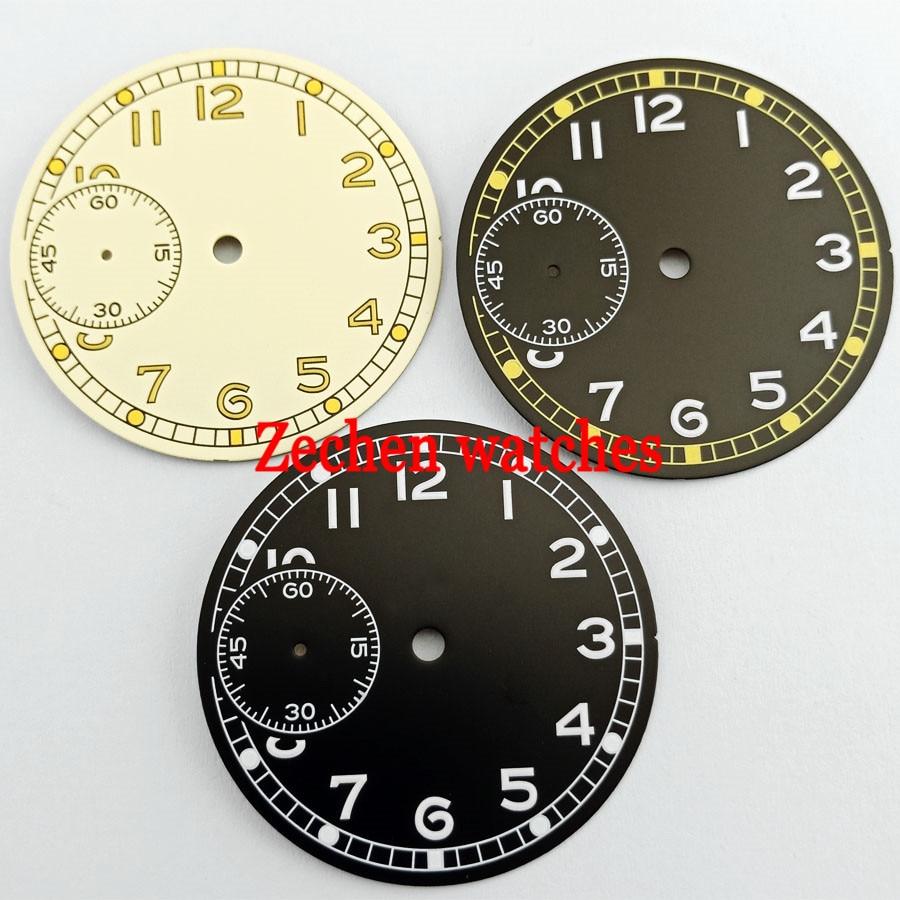 36.8mm Luminous Watch Dial Fit ETA 6497,Sea gull ST36 Movement