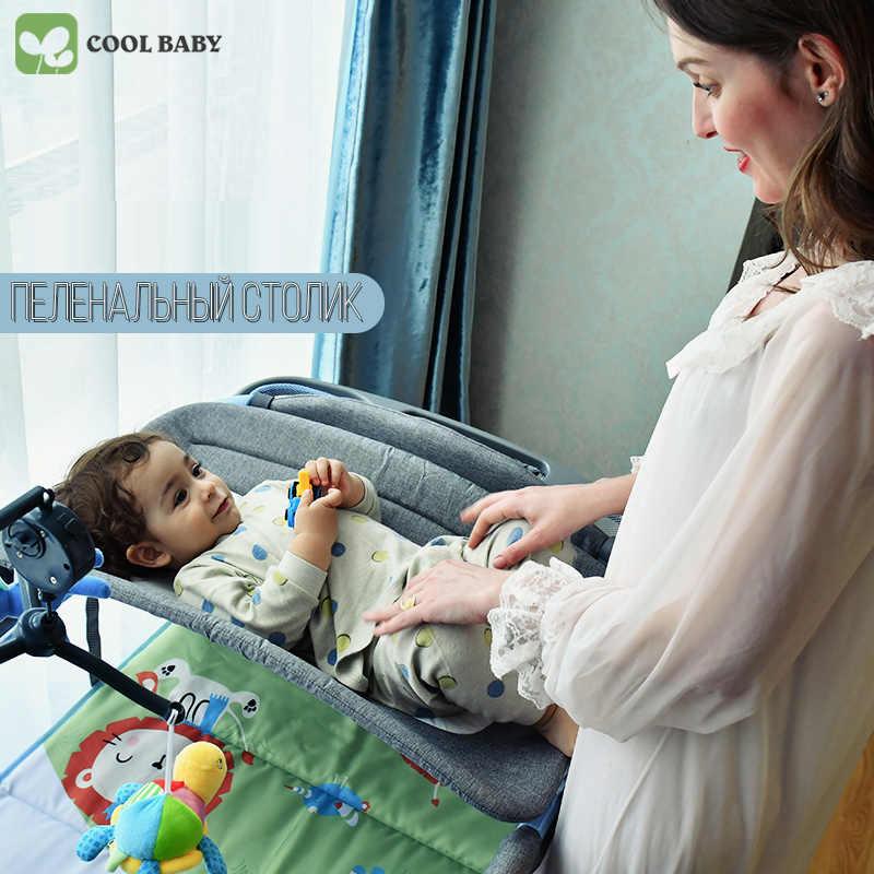 Coolbaby עריסה אירופאי רב-פונקציה מתקפל ניידת תינוק מיטת גדר מיטת משחק מיטת