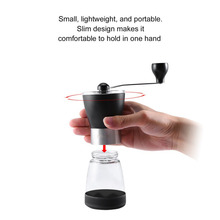 Manual Mini Portable Washable Manual Coffee Grinder ABS PC Material Stainless Steel Ceramic Core Kitchen Handhold