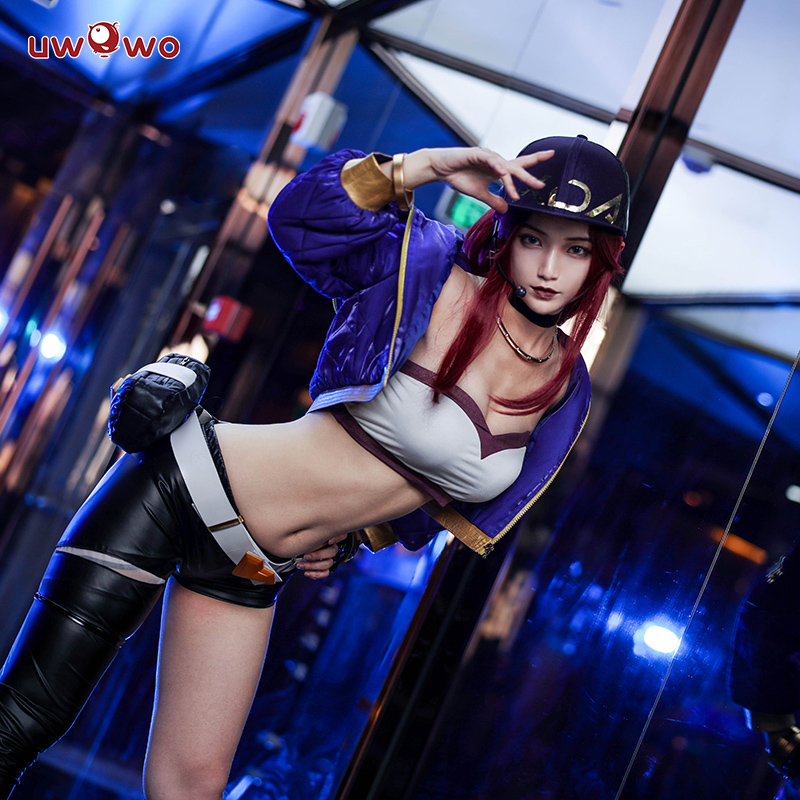 UWOWO Sexy Cosplay VERSION Game League Of Legends K/DA Akali Cosplay Costume For Women